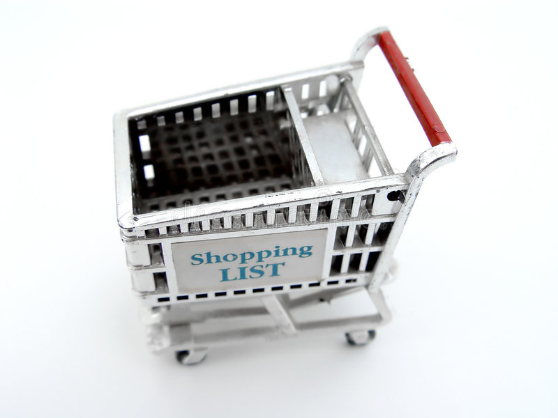 购物车查出的购物 免版税库存照片