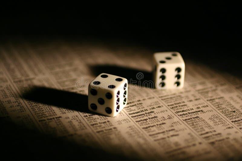 赌博的股票 库存图片