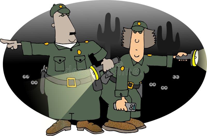 边境巡逻 库存例证