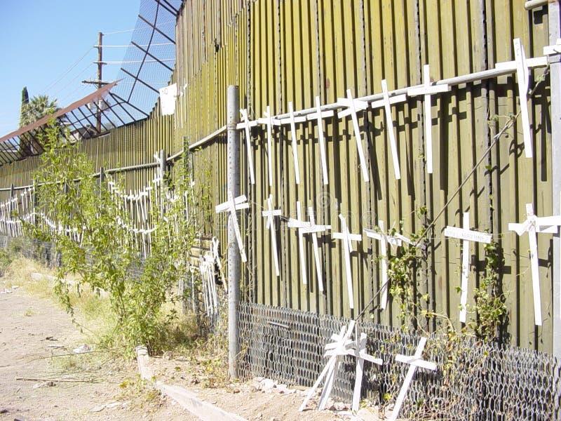 边界墨西哥我们墙壁 库存图片