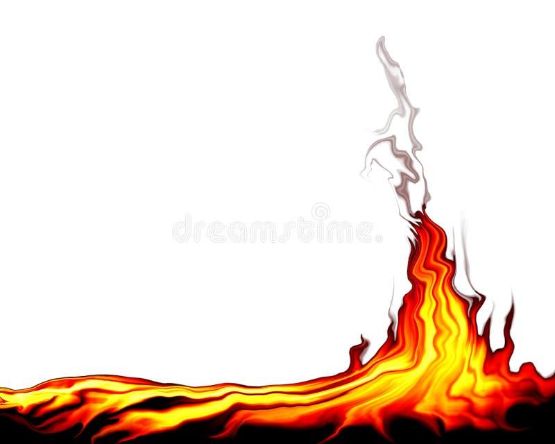通配的火 向量例证