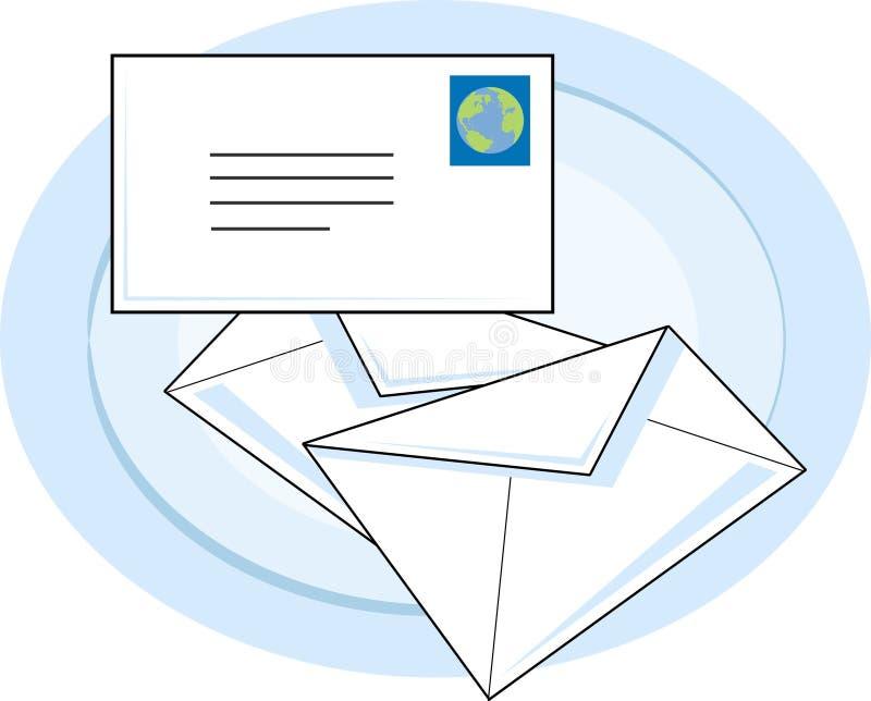 邮件 皇族释放例证