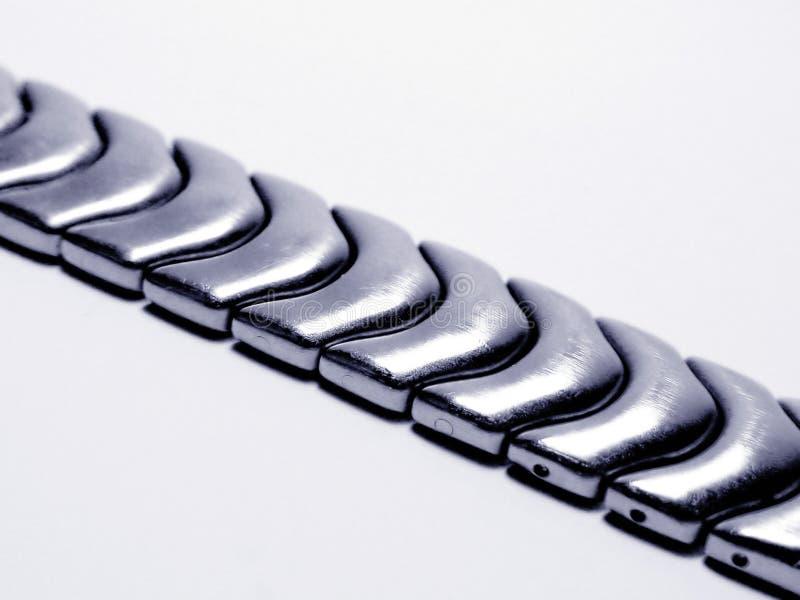 金属皮带手表 图库摄影