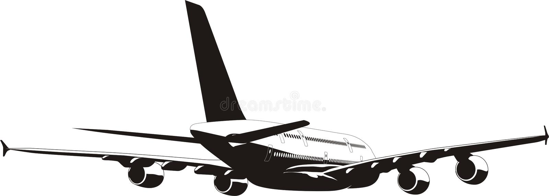 A-380 Jetliner Royalty Free Stock Photos