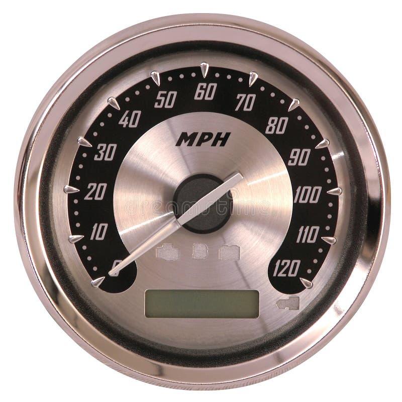 铝表面车速表 库存图片