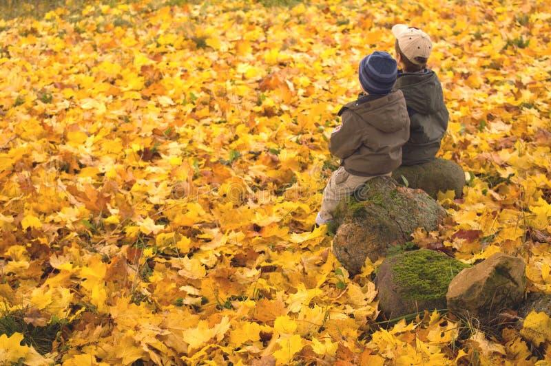 3861个秋天孩子注意 免版税库存照片