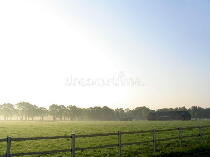 雾横向 库存图片