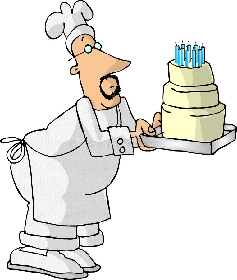 面包师蛋糕 库存照片