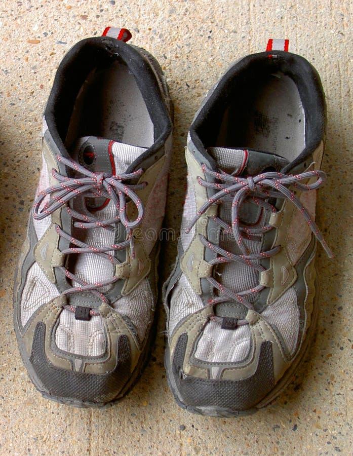 鞋子炫耀使用 免版税库存照片