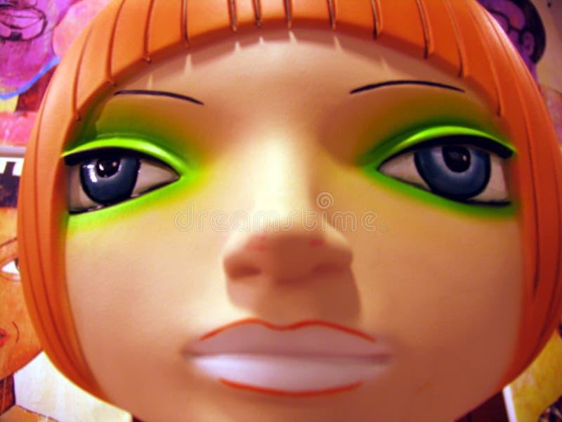 顶头时装模特塑料 库存照片