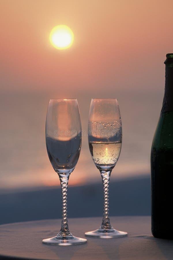 香槟玻璃 库存图片