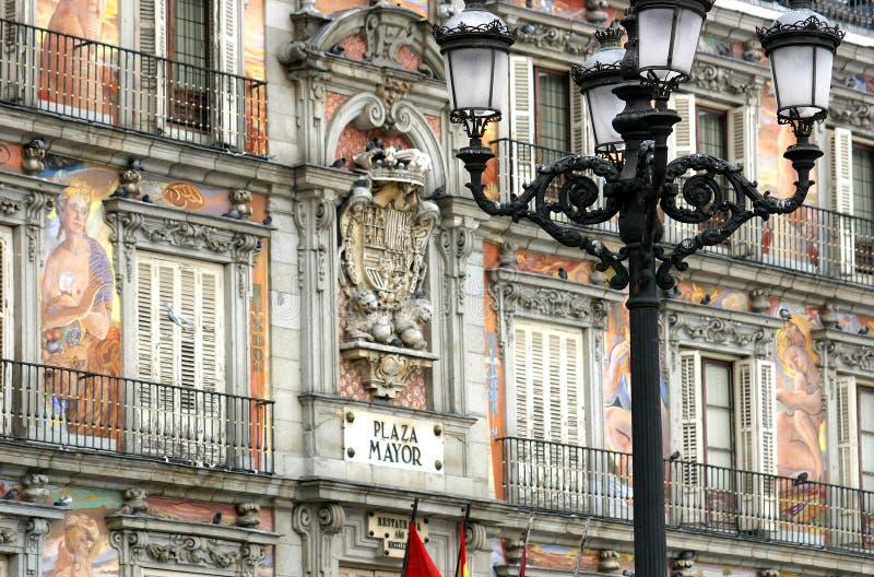 马德里市长广场 免版税图库摄影