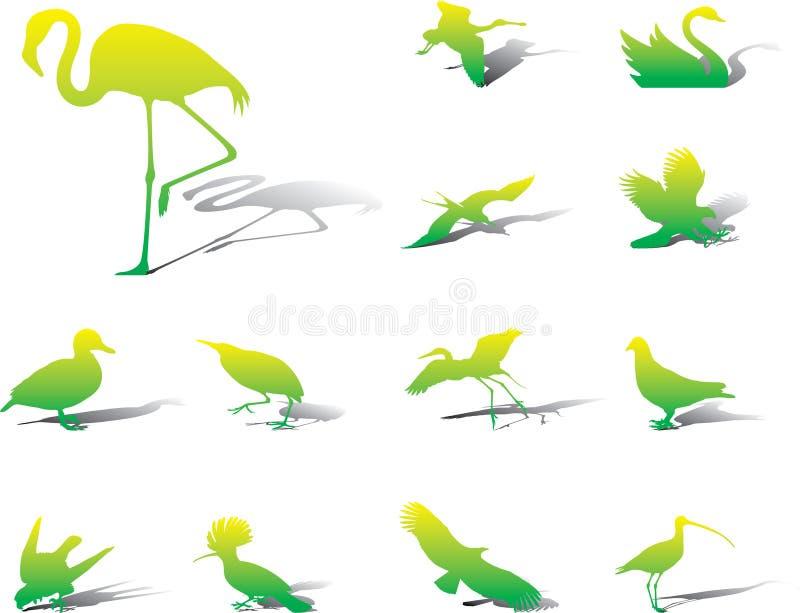 39a ustawiać ptak ikony ilustracji