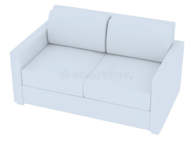 3D一个空白沙发的翻译 图库摄影