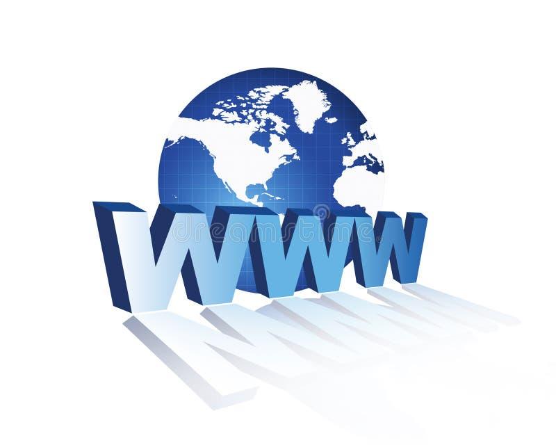 3d万维网宽世界万维网 皇族释放例证