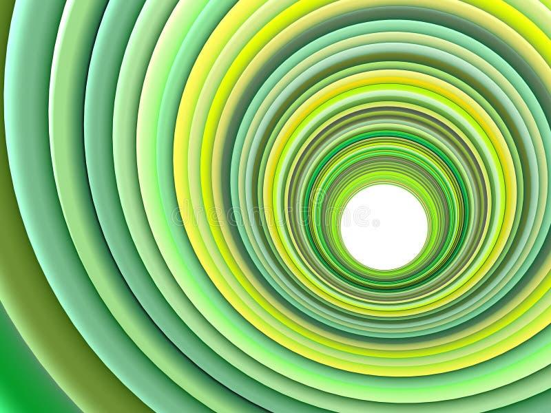 3d上色绿色多个管道 皇族释放例证