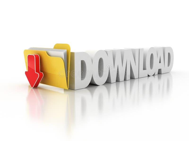 3d下载文件夹图标 皇族释放例证