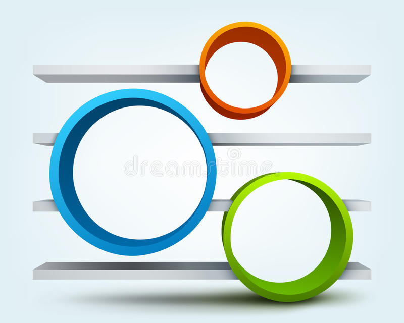 3d与架子的环形 向量例证