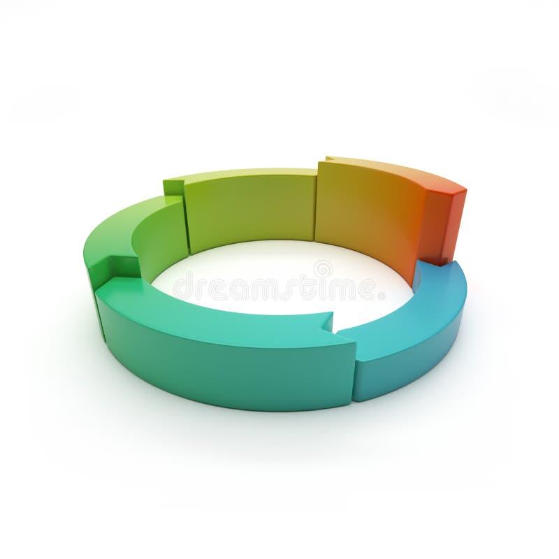 3d与箭头的圆的横幅。 圆的绘制 向量例证