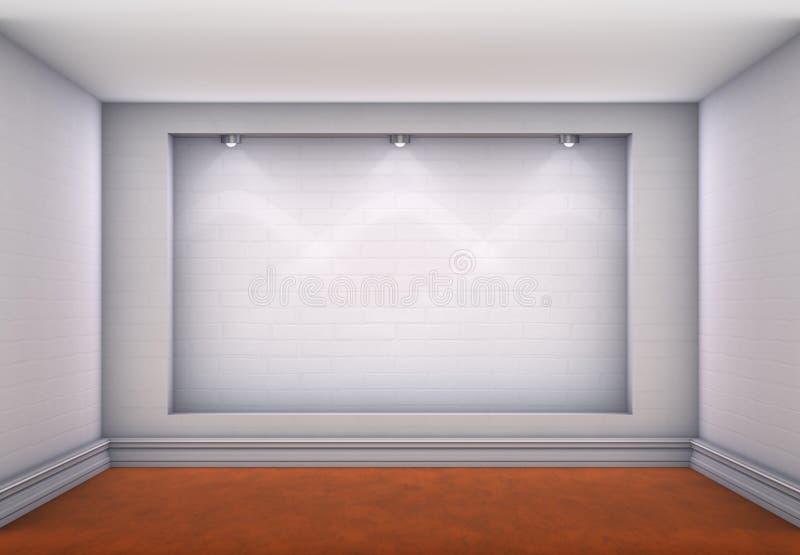 3d与聚光灯的适当位置展览的 向量例证