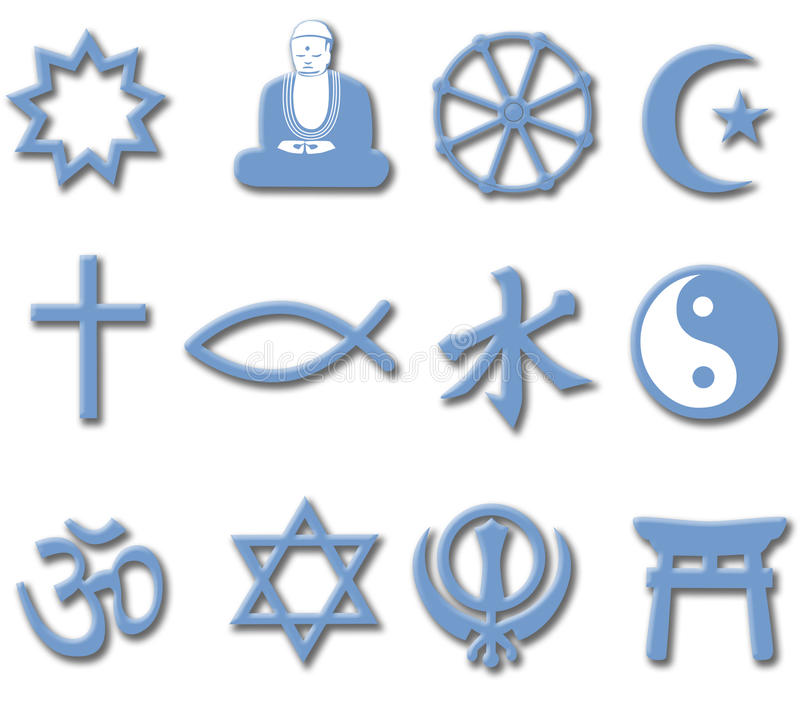3d专业宗教信仰宗教信仰集合符号世界 皇族释放例证