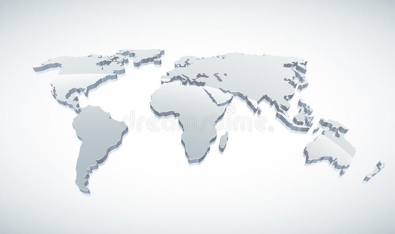 3d世界地图 皇族释放例证