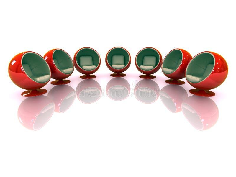 3d主持被反射的现代红色 向量例证