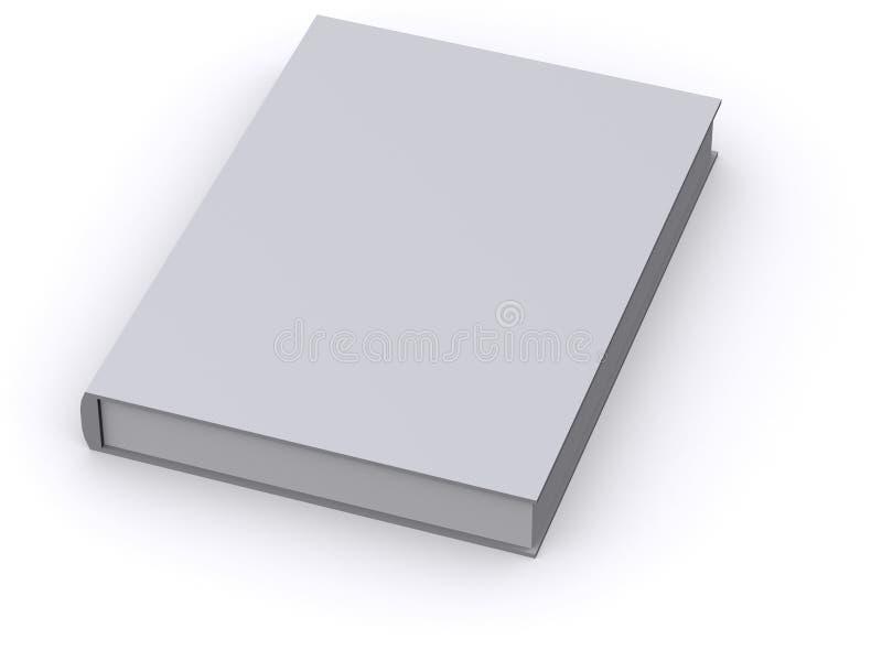 3d书查出的白色 库存例证
