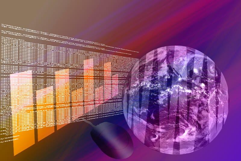 3d互联网万维网宽世界 库存例证