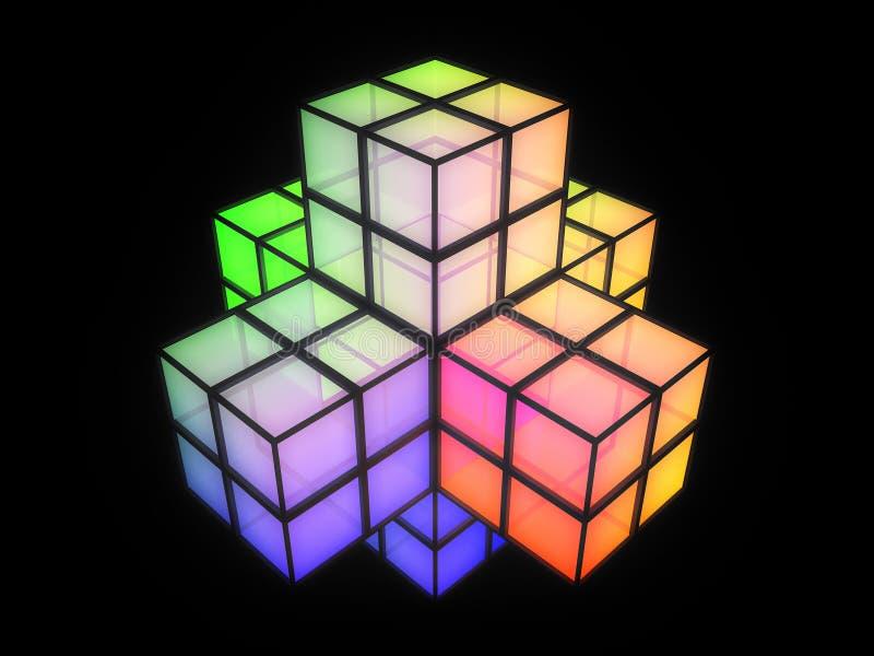 3d五颜六色的克服的结构 向量例证