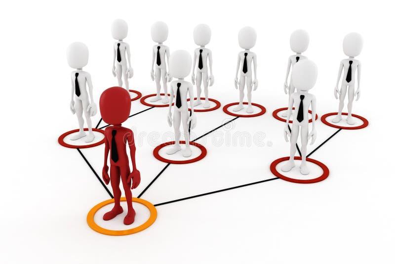 3d人企业层次结构概念 皇族释放例证