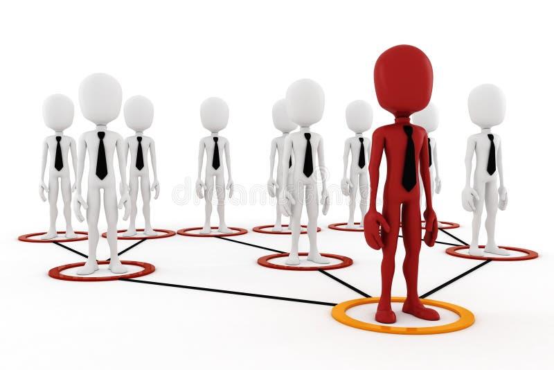 3d人企业层次结构概念 向量例证