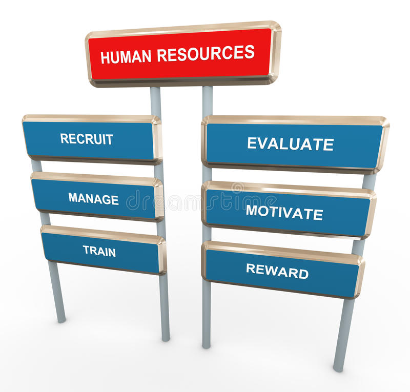3d人力资源 向量例证