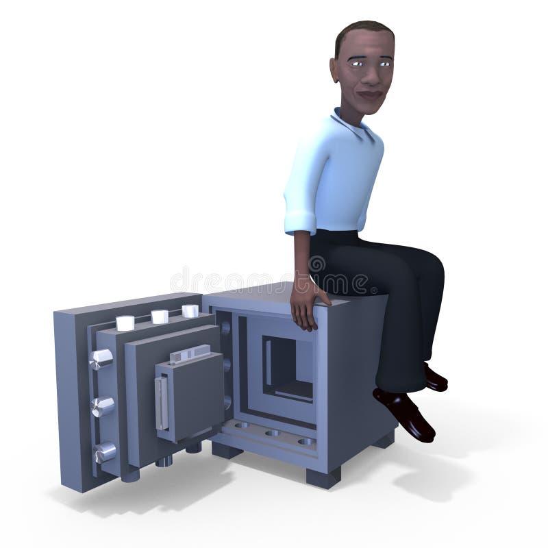 3d人安全 库存例证
