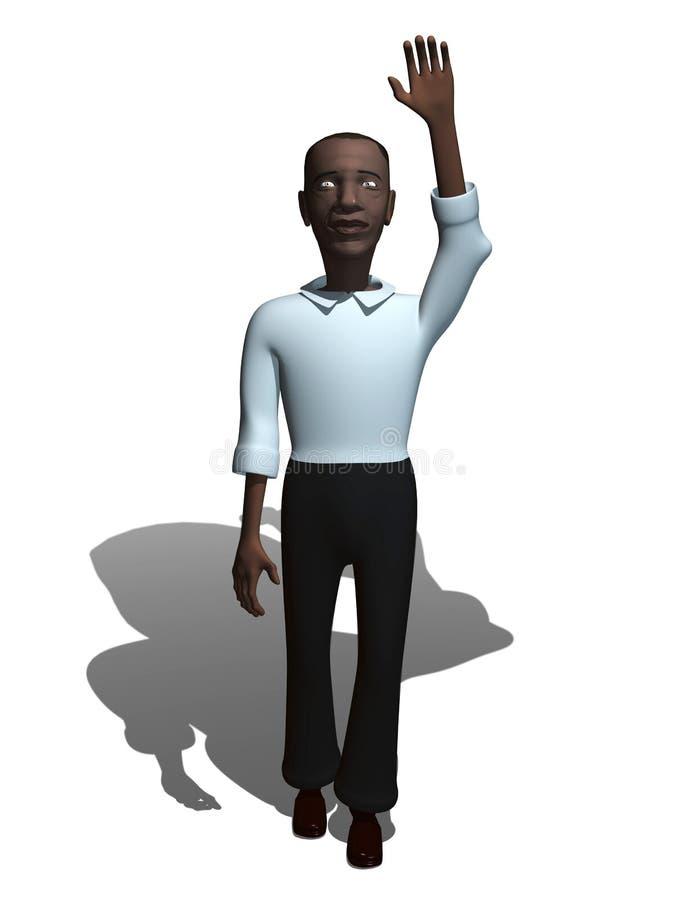 3d人黑人 向量例证