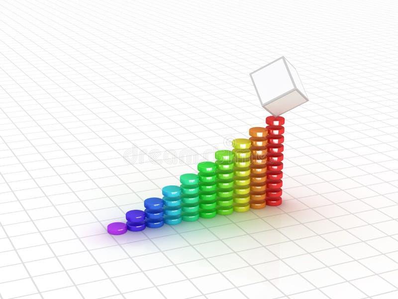 3d企业图形图象 库存例证