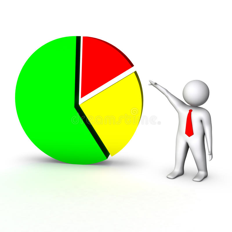3d企业图表人 库存例证