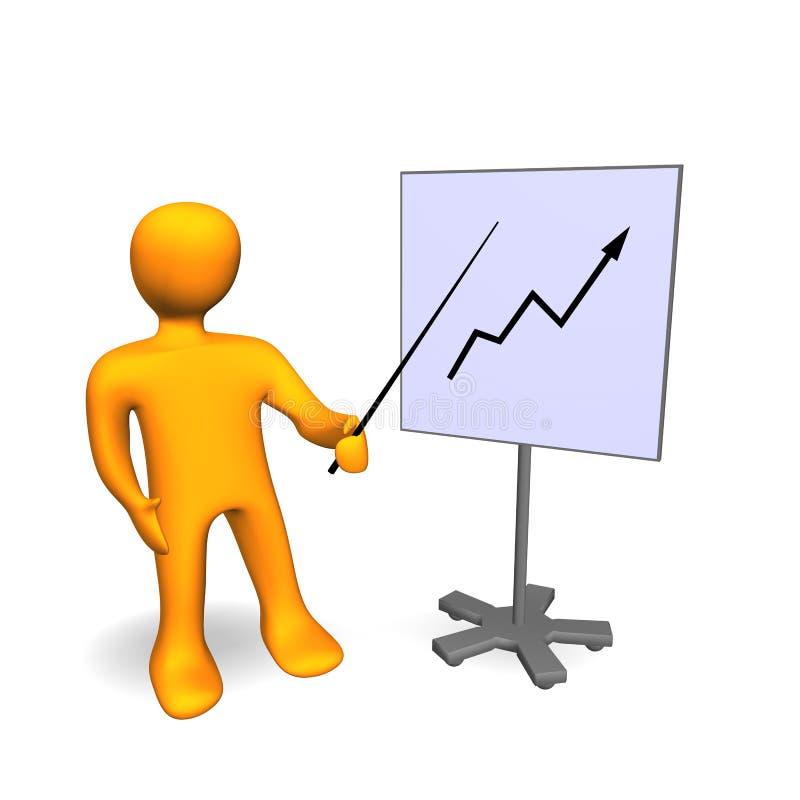 3d企业图表公司人员成功 向量例证