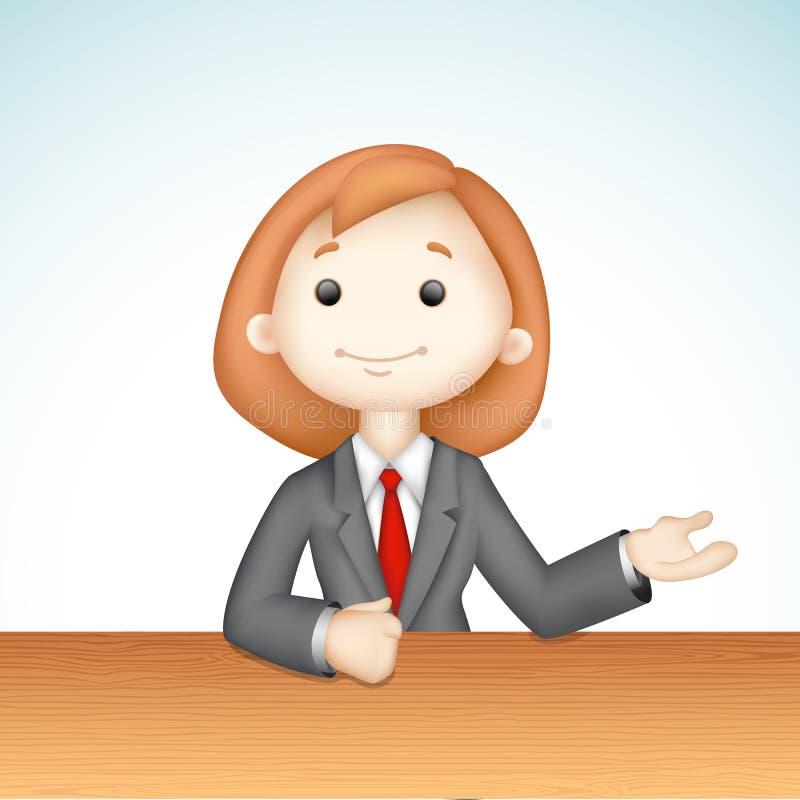 3d企业夫人向量 向量例证