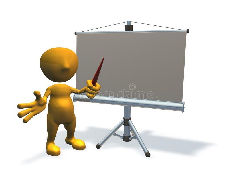 3d企业字符设备介绍 库存例证