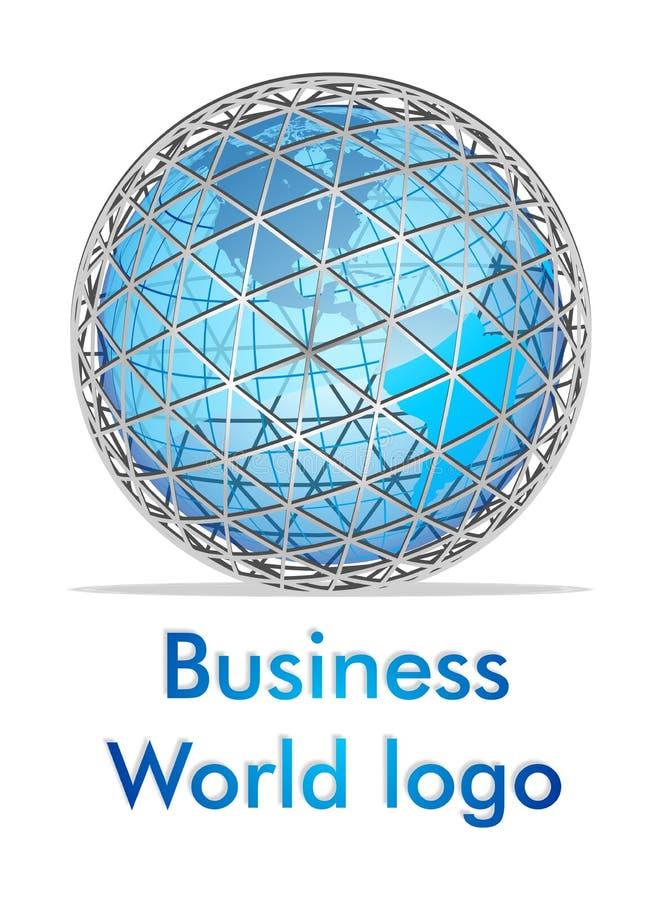 3d企业徽标世界 皇族释放例证