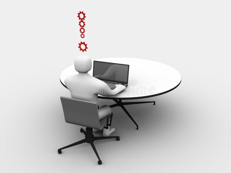 3d企业概念人 库存例证