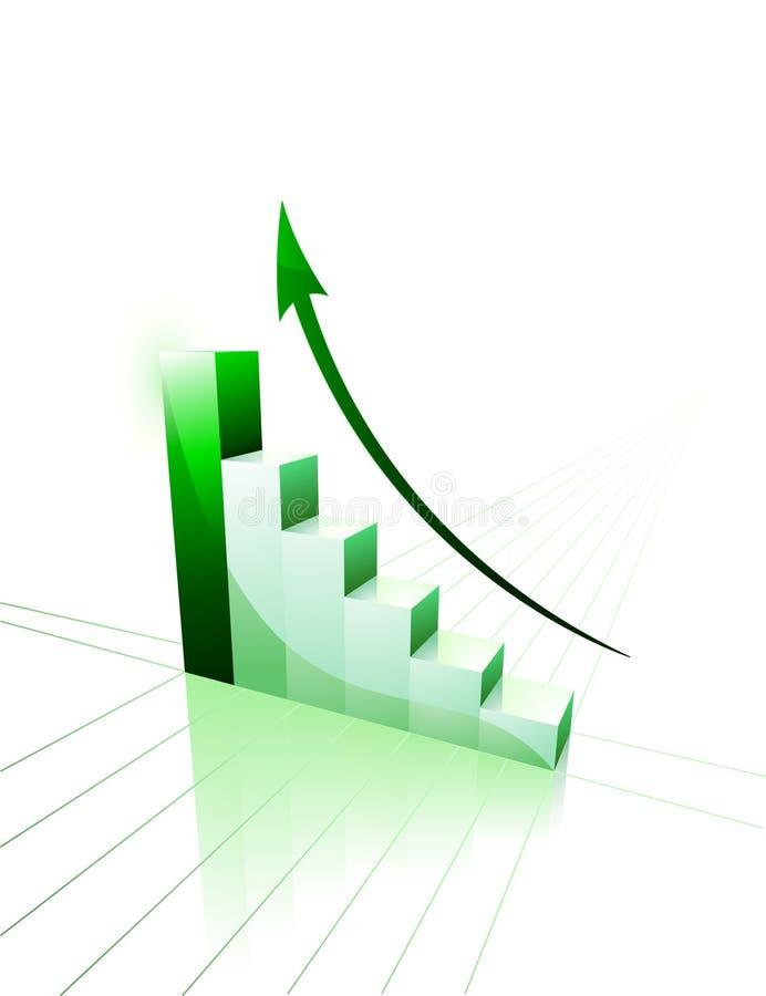 3d企业绘制图形增长图标 向量例证
