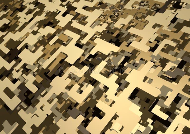 3d伪装沙漠数字式模式 皇族释放例证