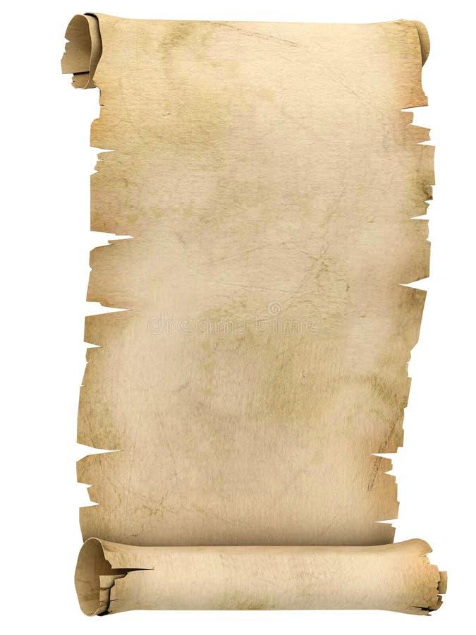 3d例证羊皮纸滚动 皇族释放例证