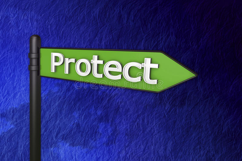 3d保护符号 免版税库存图片