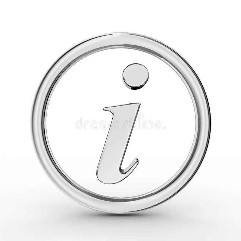 3d信息符号银 库存例证