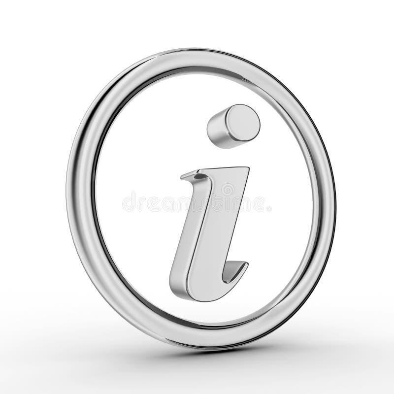 3d信息符号银 皇族释放例证