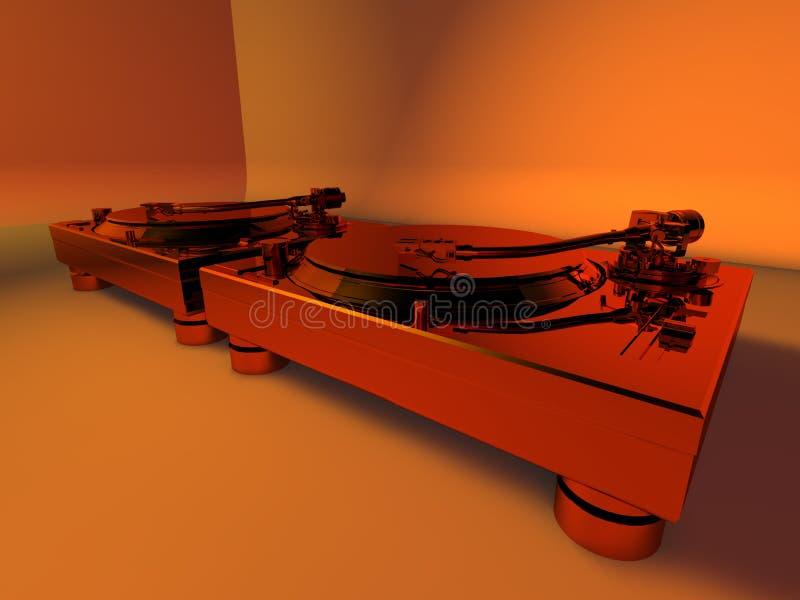 3d俱乐部dj工作室转盘 向量例证