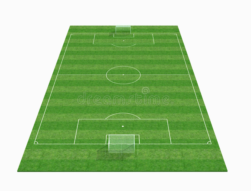 3d倒空域足球 库存例证